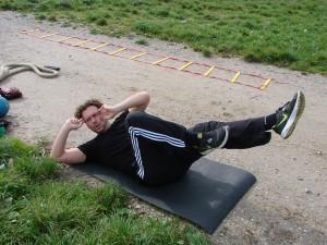 personal training münchen-sit ups